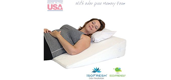 MedSlant Theraputic Wedge - Memory Foam Overlay Wedge Pillow