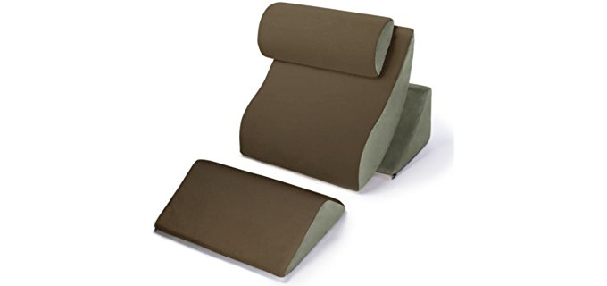 Avana Kind Bed Orthopedic Comfort System - Complete Comfort Reading Pillows System