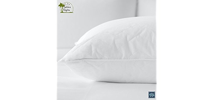 Sahara Nights Premium Cotton - Firm Pillow For Back and Stomach Sleepers