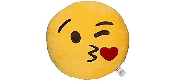 EvZ Emoji Smiley - Soft Toy Throw Pillow