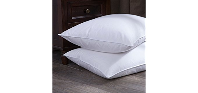 Puredown White Goose Down - Feather Bed Pillow