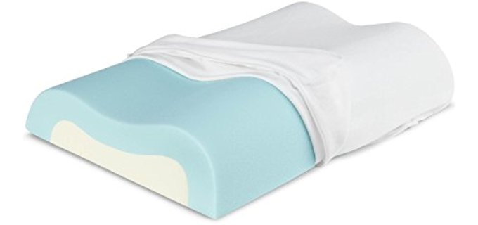 Sleep Innovations Cool Contour - Memory Foam Pillow for Neck and Shoulder Pain