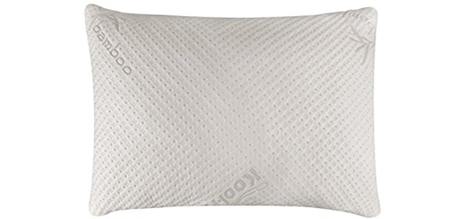 Snuggle-Pedic Ultra-Luxury - Bamboo Shredded Memory Foam Pillow for Neck Support