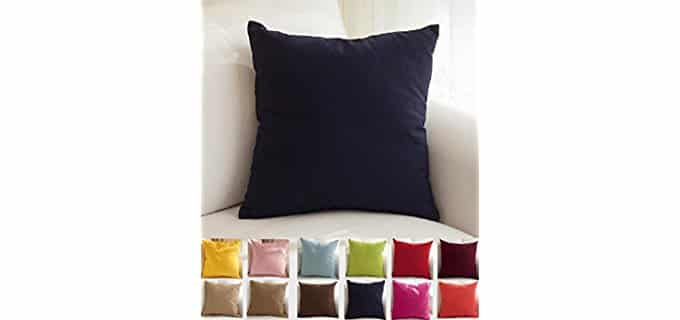 TangDepot Cotton Canvas - Throw Pillow Cover