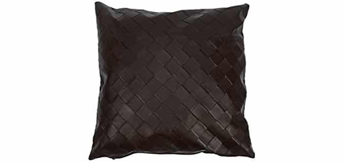 GardeningWill Throw Pillow Cover - Waterproof PU Leather Throw Pillow Case