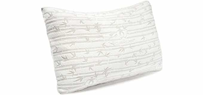 Clara Clark Memory Foam Pillow - King Sized Bamboo Memory Foam Pillow