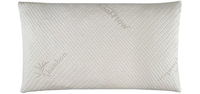 Snuggle-Pedic Luxury Memory Foam Pillow - Luxurious King Sized Bamboo Memory Foam Pillow