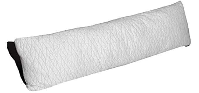 Coop Home Goods Adjustable Body Pillow - Adjustable Shredded Memory Foam Body Pillow