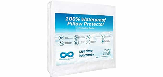 Everlasting Comfort Cotton Pillow Protection - Ultra Soft Cotton Pillow Protectors
