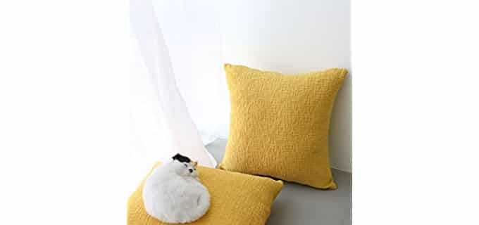 Kevin Textile Cross Hatched Pillow Covers - Textured Monotone Throw Pillow Cases