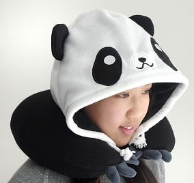 Hooded Travel Pillow Panda