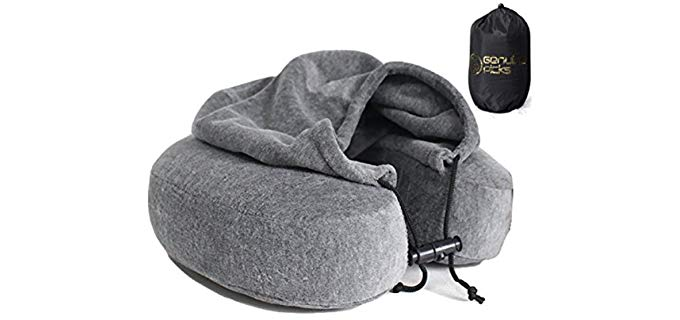 Genuine Picks Luxury - Memory Foam Neck Pillow with Hoodie