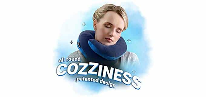BCOZZY Neck Travel Pillow - Innovative Wrap Around Neck Pillow for Travel
