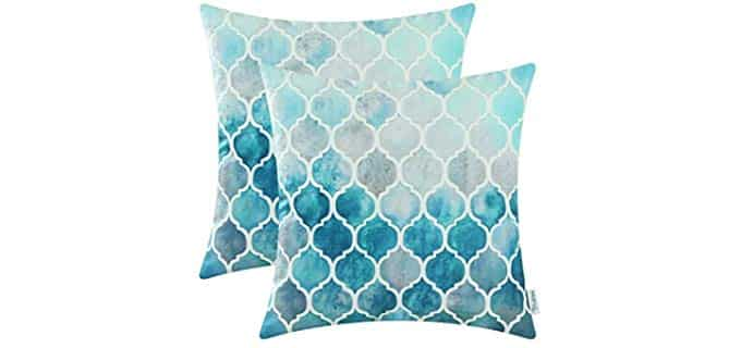 CaliTime Two Pack - Throw Pillow Covers