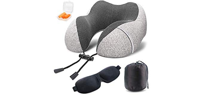 Soft Digits Memory Foam - Neck Travel Pillow
