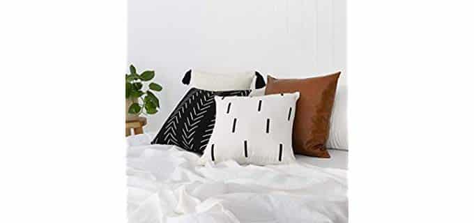 Inspired Ivory Modern Boho - Throw Pillow Cases