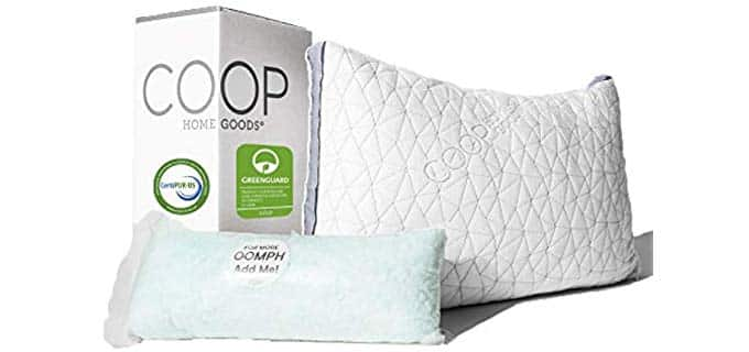 Coop Home Goods Eden - Adjustable Memory Foam and Cooling Gel Pillow