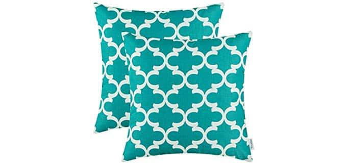 CaliTime Canvas - Modern Quatrefoil Geometric Pillows