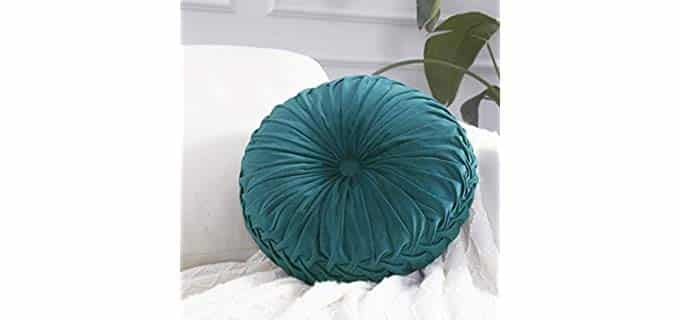 Cassiel Home Round - Pintuck Throw Pillow for Chair