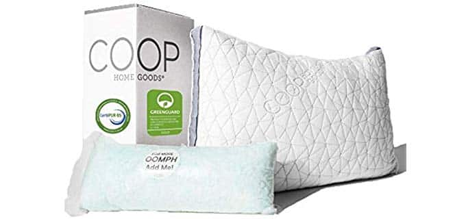 Coop Home Goods Adjustable - Memory Foam Pillow with Cooling Gel