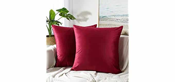 JUSPURBET Velvet - Pillow Covers for Brown Couch
