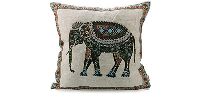 Luxbon Tapestry - Indian Elephant Throw Pillow Case