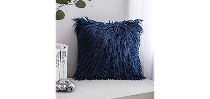Phantoscope Luxury Series - Faux Fur Chair Pillow Cover