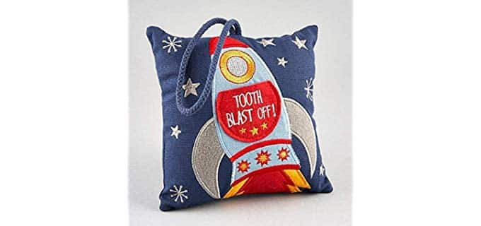 Floss & Rock Cushion - Unisex Tooth Fairy Cushion Rocket