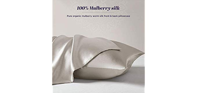 Hyde Lane Mulberry Silk - Organic Antimicrobial Pillowcase