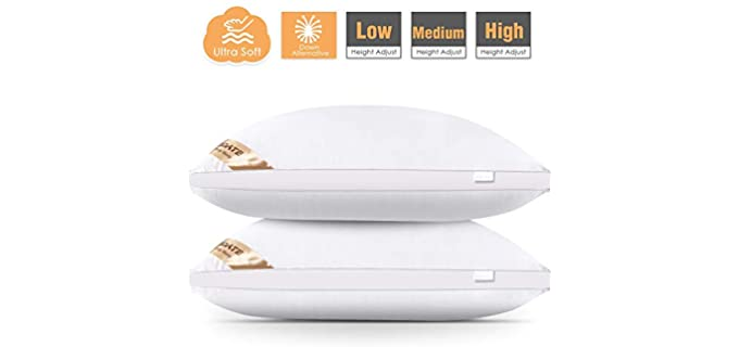 Agedate Adjustable - Microfiber Down Alternative Pillow