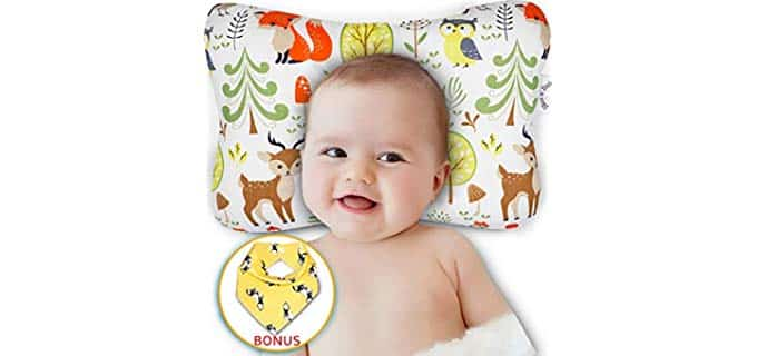 Bliss n Baby Organic - head shaping;Reflux Prevention Baby Pillow