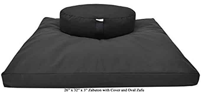 Bean Products Zafu and Zabuton - Meditation Cushion Set