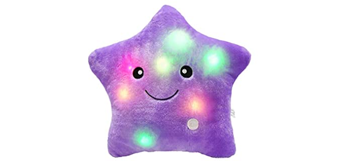 Bstaofy WeWill - Cute Girl's LED Star Pillow