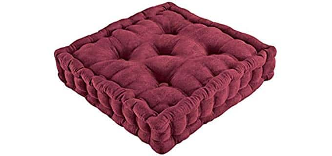 Collections ETC Tufted - Floor Seat Pillow