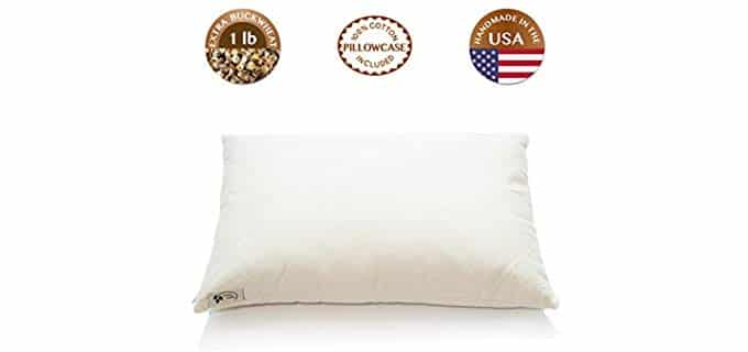 ComfySleep Traditional - Heavy Pillow with Buckwheat Fill
