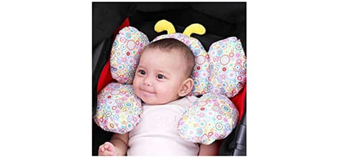 Jitejoe Butterfly - Protective Toddler Travel Pillow