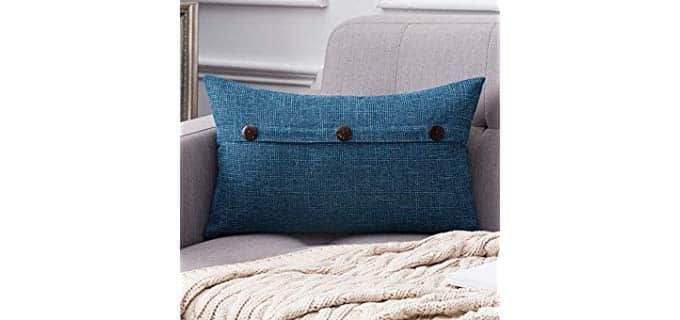 Miulee Decorative - Button detail Pillow