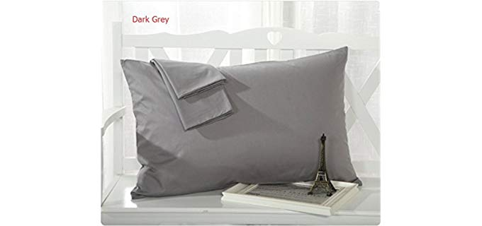 MoonRest Queen Size Cotton - Pillowcase with French Seam
