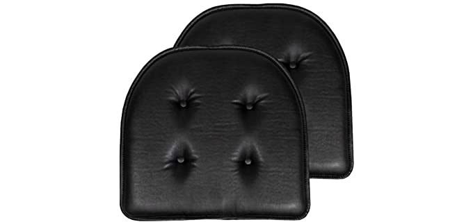 Sweet Home Collection Leather - Chair Seat Pillow