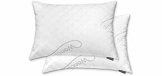 Wondersleep Premium - Adjustable Loft Pillow with Cooling Bamboo