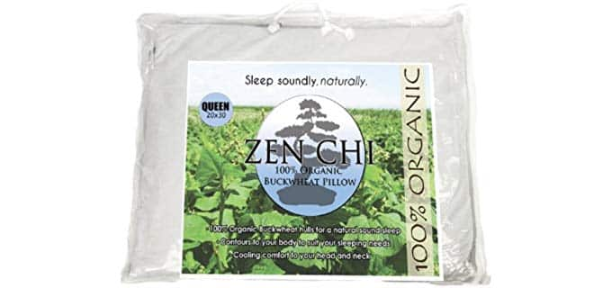 Zen Chi Organic Queen - Natural Buckwheat Pillow