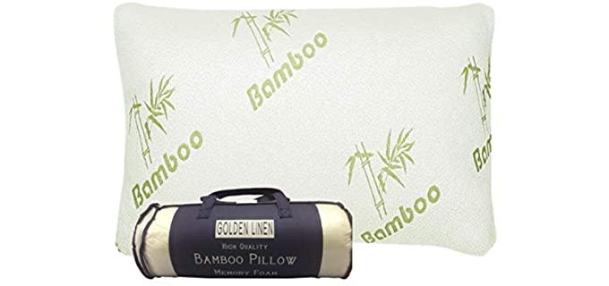 Golden linens LLC Hotel Quality - Bamboo Built Pillows