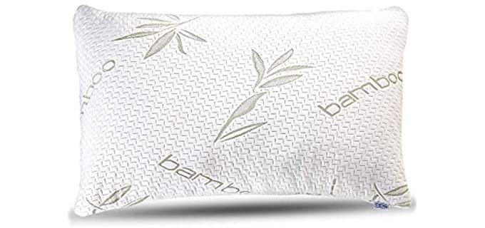 Sleepsia Memory Foam - Bamboo Pillow