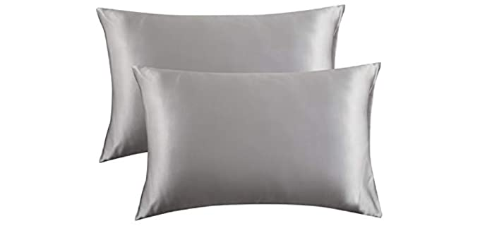 Bedsure Queen Size - Zip Pillow Cases