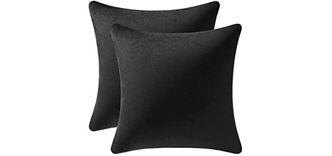 DEZENE Velvet - Square Throw Pillow Cases
