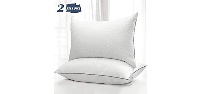 GOHOME Shredded Foam Pillow - Hypoallergenic Velvety Pillow