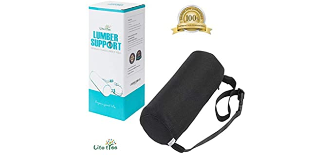LitoTree Memory Foam - Lumbar Travel Pillow