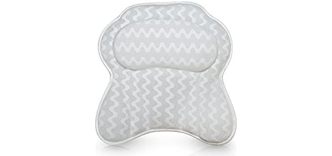 Bath Haven Ergonomic  - Best Bath Pillows