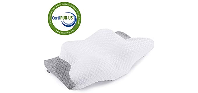 Misiki Moderate Firm - Butterfly Contour Pillow