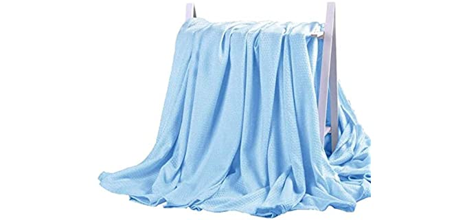 DANGTOP Bamboo - Microfiber Blankets for Summer